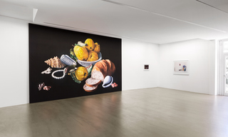 Shirana Shahbazi STILLLEBEN-29 PAINTING, 2008 (l.) / Christiopher Muller SHELF, 2012 + STUDIO, 2011 (r.)